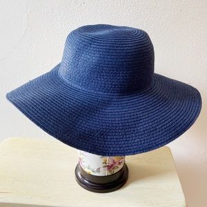 J. Crew Cuts Navy Blue Straw Hat size S/M